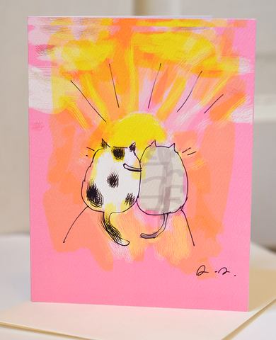 Sunrise/Sunset Cats - Friendship Card