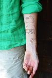 Happy Cat - Temporary Tattoo - Set of 2