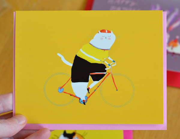 Maillot Jaune Cat Card- TDF