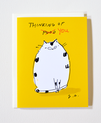 Thinking of You/Food Cat Card