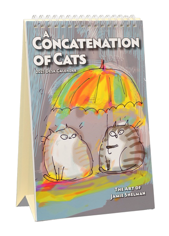 A Concatenation of Cats 2021 Easel Desk Calendar