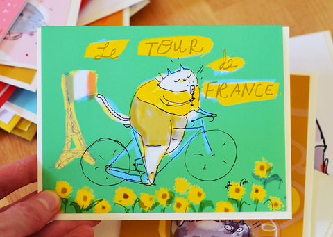 Le Tour de France Cat Card