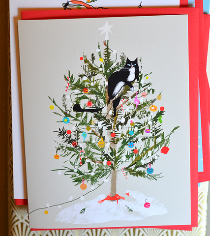 Bestsellers Holiday Cat Cards- Mixed Set of 5
