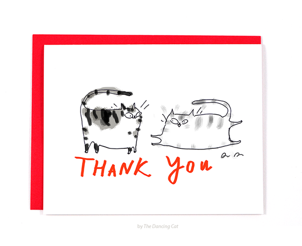 Thank You Cat Card- Playful Cats