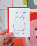 Thank You Cat - Mini Card