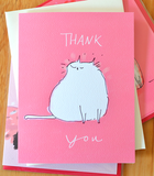 Happy Cat Thank You Card