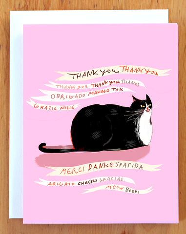 Meow Beep Cat Thank You Card