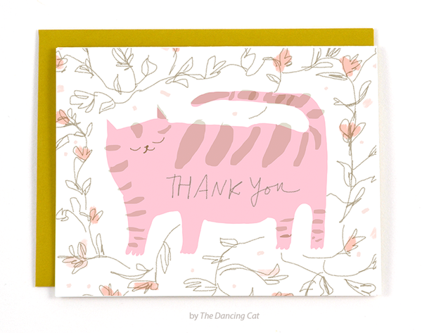 Thank You - Pink Cat