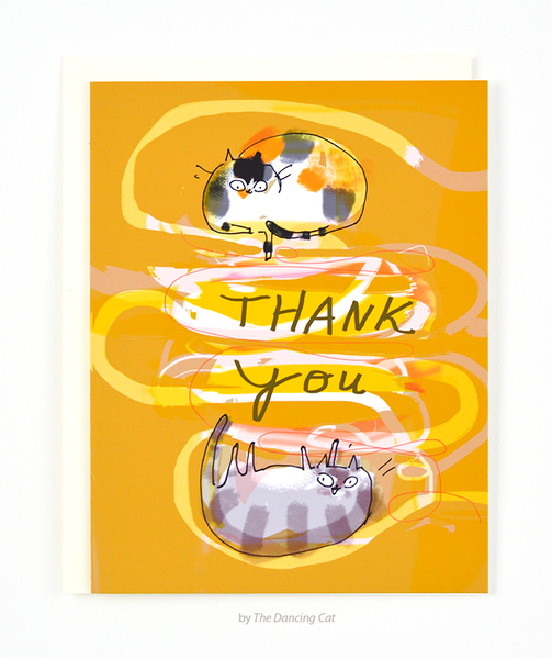 Thank You Cat Card - Lotsa String