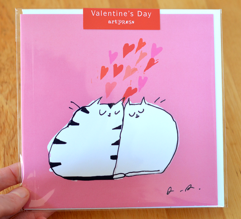 Happy Valentine's Day card- LARGE