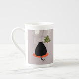 Waitin up Christmas Cat Mug
