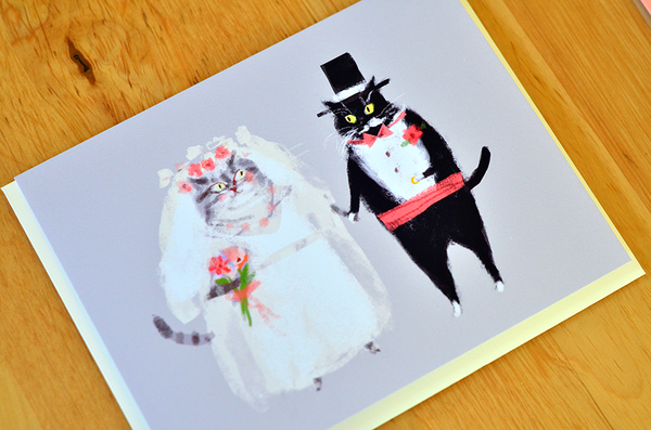 Wedding Cat Card - Bride & Groom