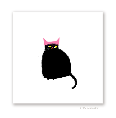Pink Hat Cat Print - Women's March Cat Print