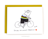 You're my world champion - Cat Card - Bike Card