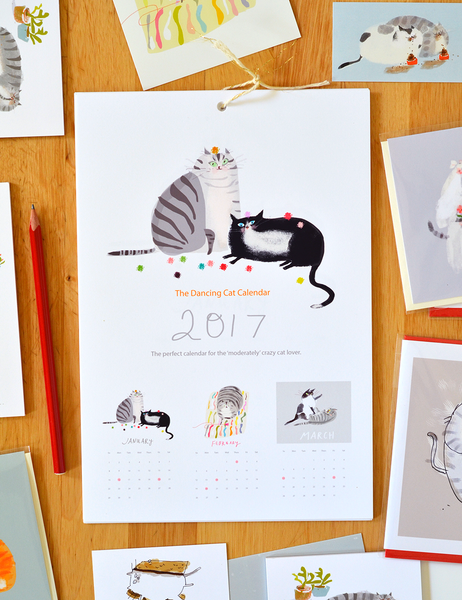 The Dancing Cat Calendar 2017