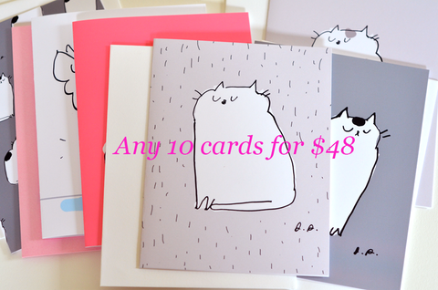 MIXED CARD SET- Choose any 10 cards for 48 dollars