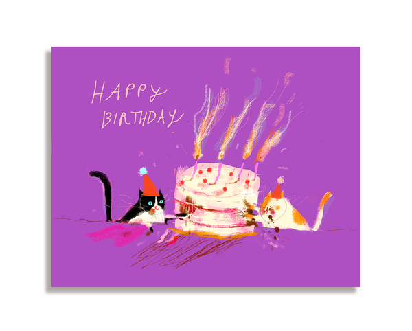 Let Them Eat Cake - Birthday Cat Card