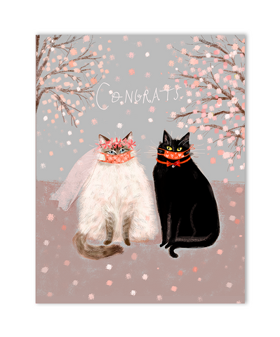 Love is Not Canceled- Wedding Cat Card - Congrats
