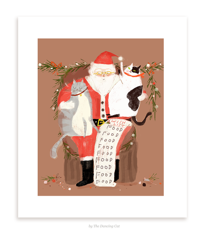 Christmas Print- All I Want for Christmas is... Food
