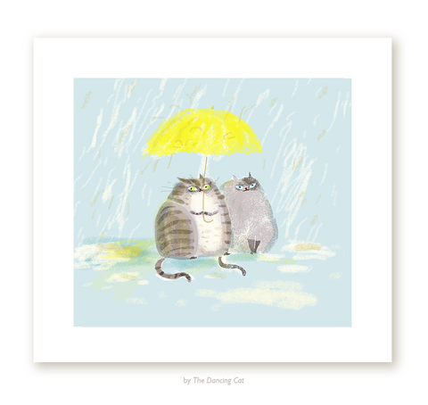 April Showers- Cat Print