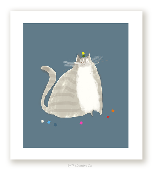 Big Grey - Cat Print