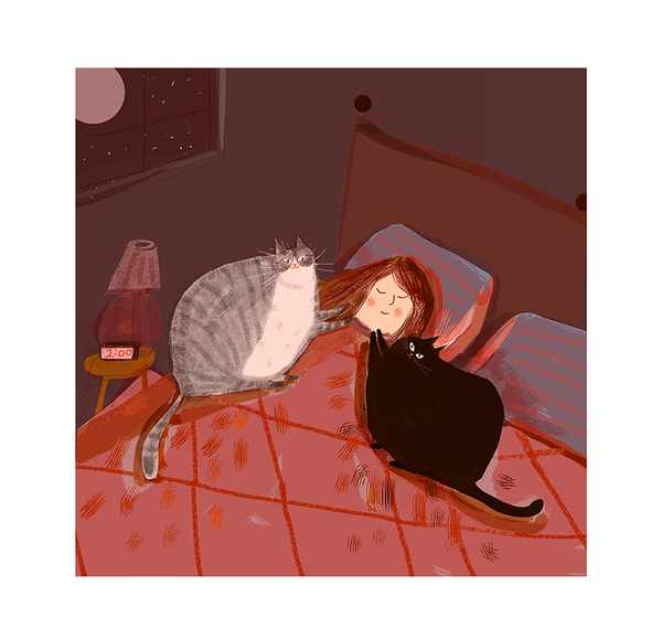 The Bonding Hour - Cat Print