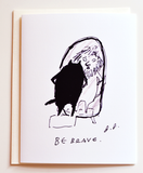 Be Brave Card - Encouragement Card
