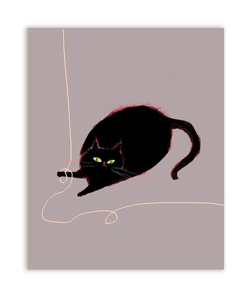 Cat String Postcards - Set of 12