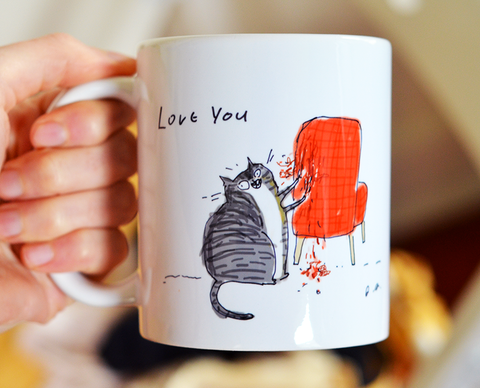 Love You - Chair Rip Mug