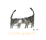 Headbutt Cat print- CUSTOM Colors