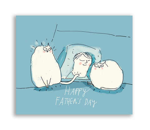 Happy Father's Day Card - Cat Dad
