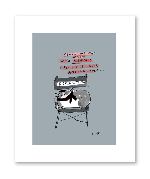 The Director -Cat Print