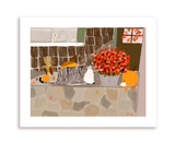 Fall Porch Kitty- Print