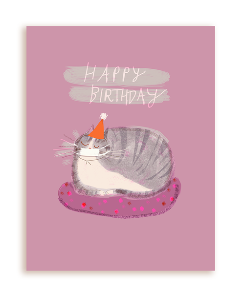 Quarantine Birthday Cat Card