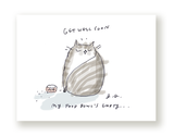 Get Well Soon - Food Bowl- Cat Card