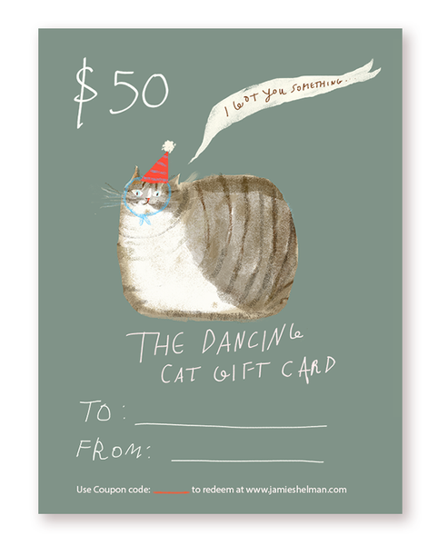 The Dancing Cat Gift Card