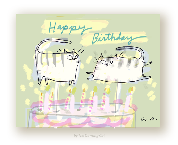 HBD - Cat Figurines