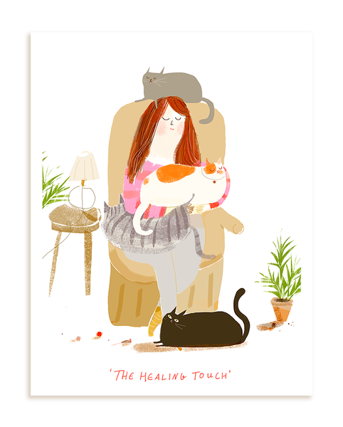 The Healing Touch- Cat Print