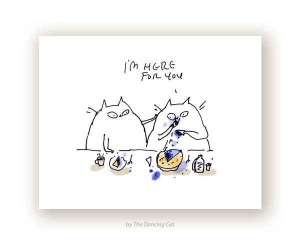 Pie Cat Sympathy Card