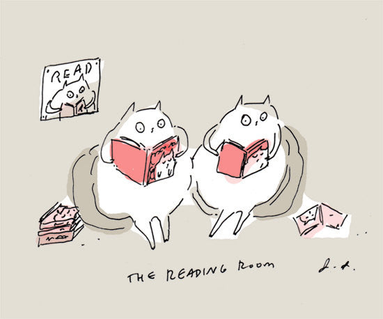 The Reading Room - Cat Print