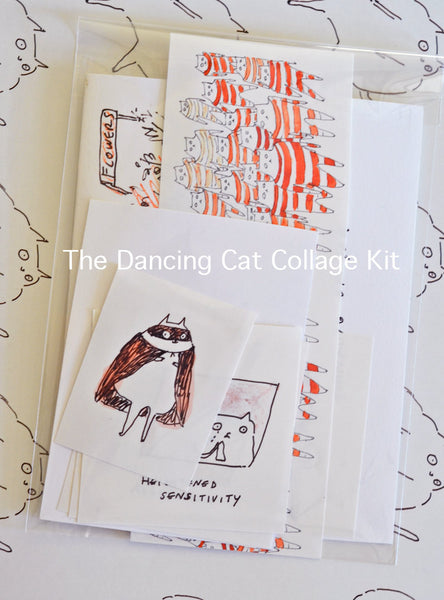 The Dancing Cat Collage Kit- DIY