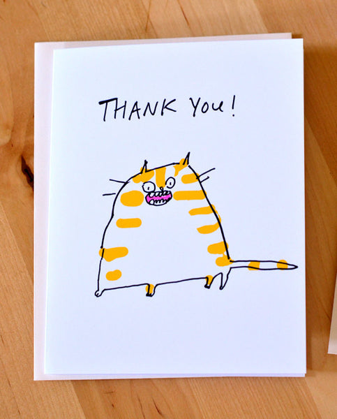 Thank You Card- Ginger Cat