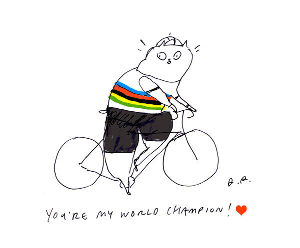 You're my world champion - Bike Print