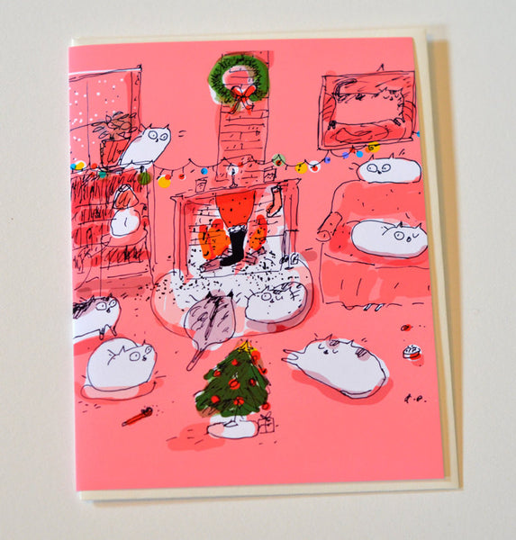 Visit from St. Nick- Christmas Cat Card