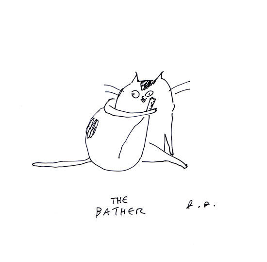 The Bather- Cat Print