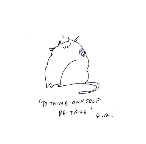 To Thine Own Self Be True- Shakespeare Cat Print