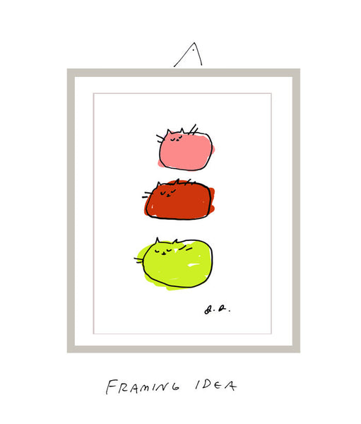 Gelato Cats- Cat Print- Modern Cat Art