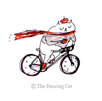 Cycling Cat Tattoo- Temporary Tattoo