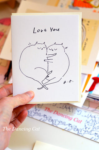 Love You - Cat Card - Fat Cats