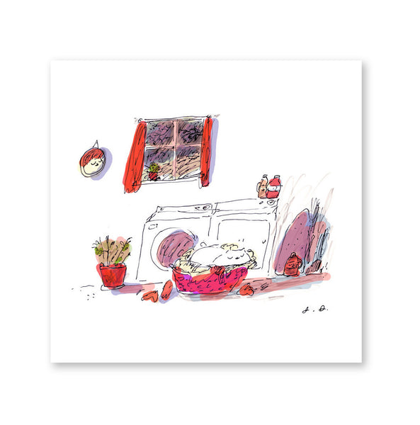 Dirty Basket - Laundry Room Cat Print